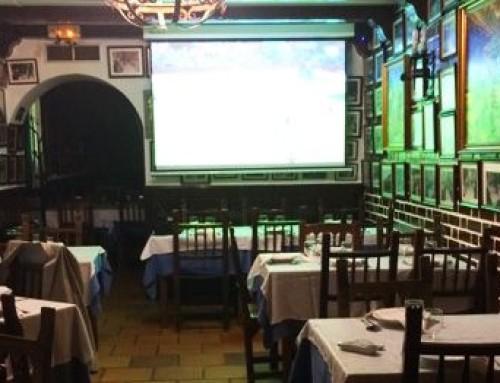 Instalación de equipos audiovisuales en el restaurante El Ñeru