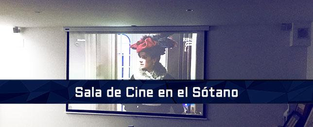 sala de cine en el sotano