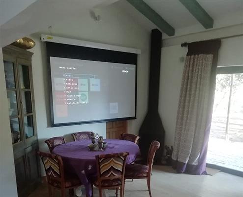 pantalla de proyección de 200 cm